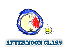 Afternoon Class from 12:30am 3:30pm